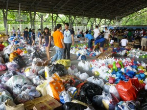 Relief Center in Ateneo.