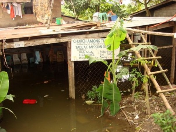 The Tadlac Mission of a local Los Banos Church was flooded