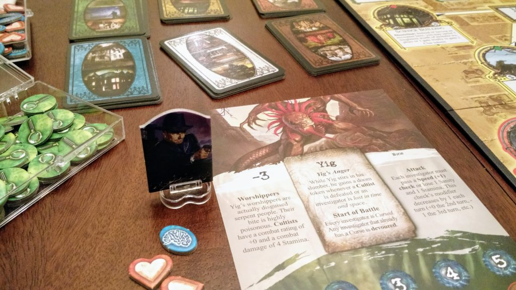 Arkham Horror board game pieces