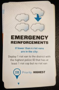 Emergency Reinforcements card from Bloc by Bloc